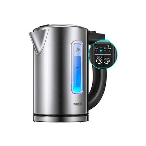 Hervidor de agua con selector de temperatura