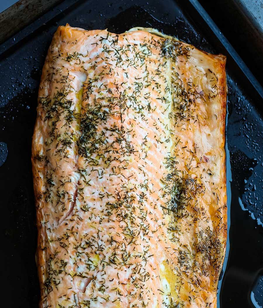 Salmón noruego al horno