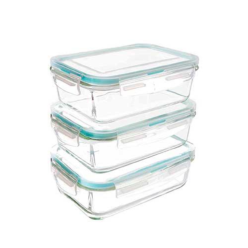 Recipientes de cristal con tapa sin BPA