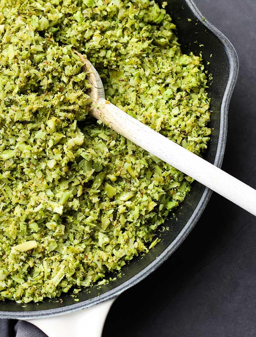 Falso arroz o couscous de brócoli o coliflor