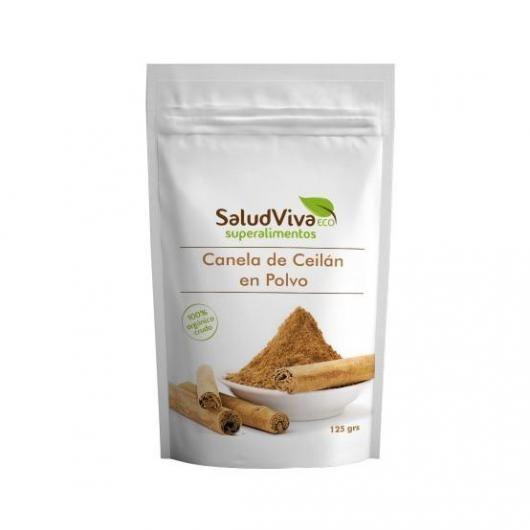 Canela de Ceylan en polvo 125 g, Salud Viva