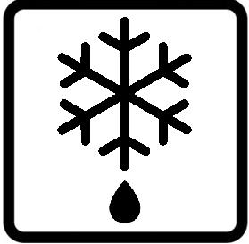 Símbolo horno descongelar