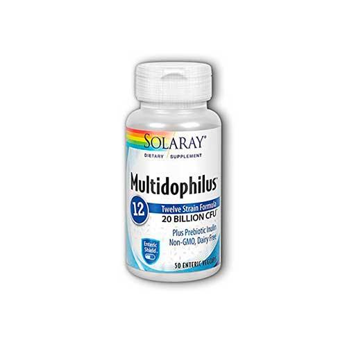 Probiótico Solaray Multidophilus 20 Billion CFU