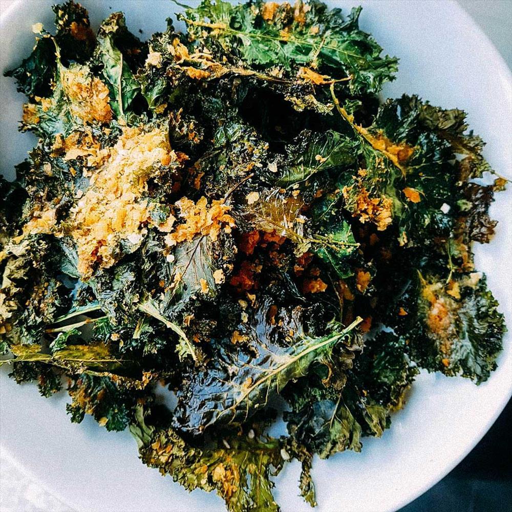 Chips de kale caseras