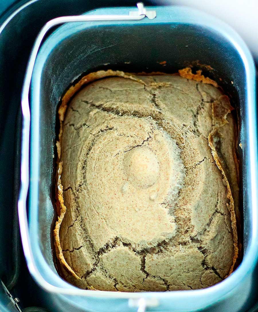 Pan de trigo sarraceno en panificadora