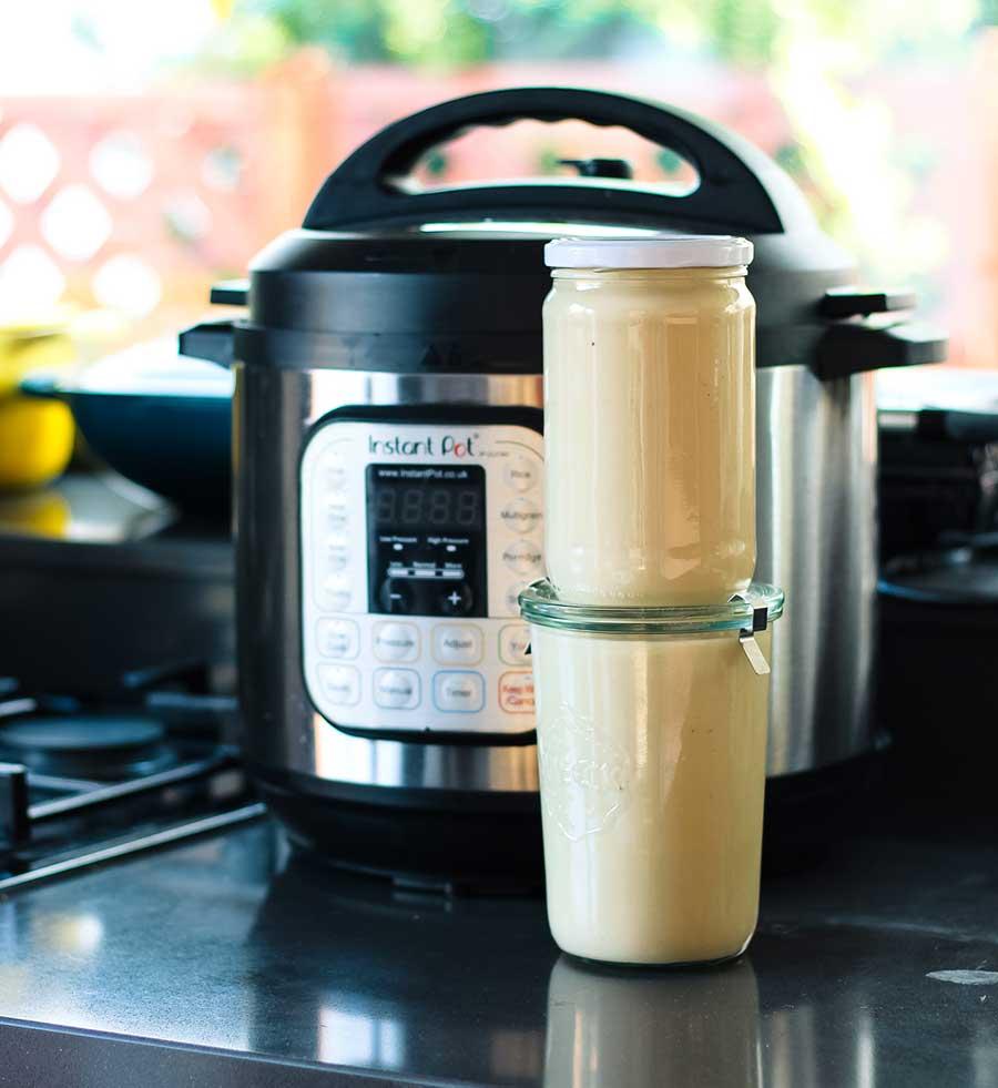 Crema de coliflor en Instant Pot